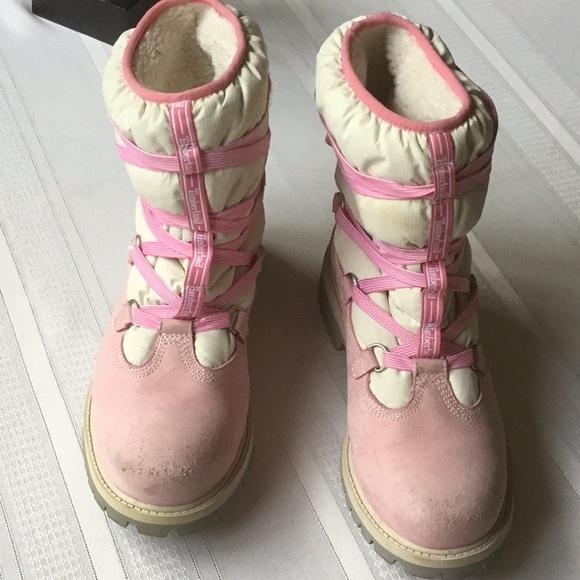 professioneller Verkauf großer Diskontverkauf Schnelle Lieferung Women's Timberland snow boots (GUC)